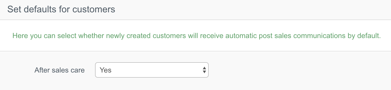 ASC customer defaults
