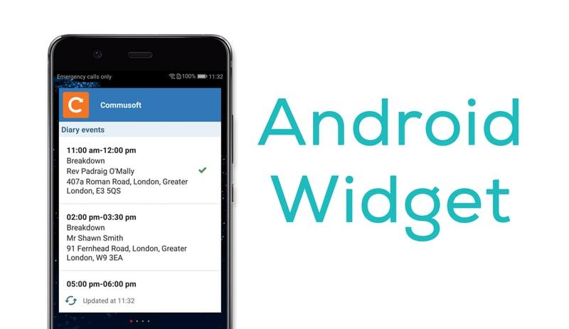 Android widget header