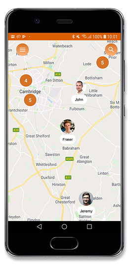 Real-time locations on Android