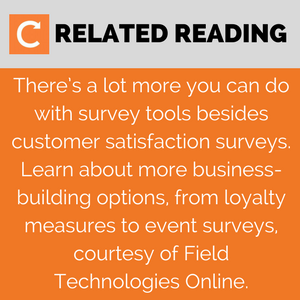 Read More on customer satisfaction surveys from Field Technologies Online