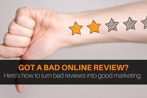 How to handle negative reviews.