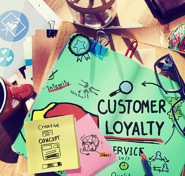 Picture of the word loyalty referring to a plan on how to build a customer database and increase customer loyalty.