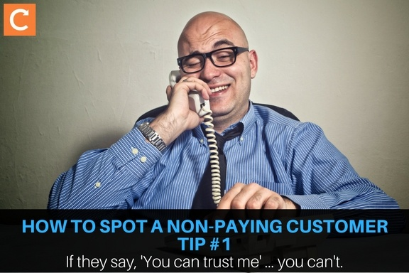 Don't trust non-paying customers!