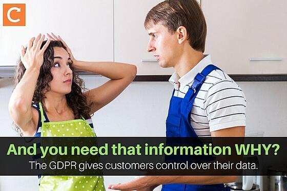 The GDPR gives your field service customers control over their data.