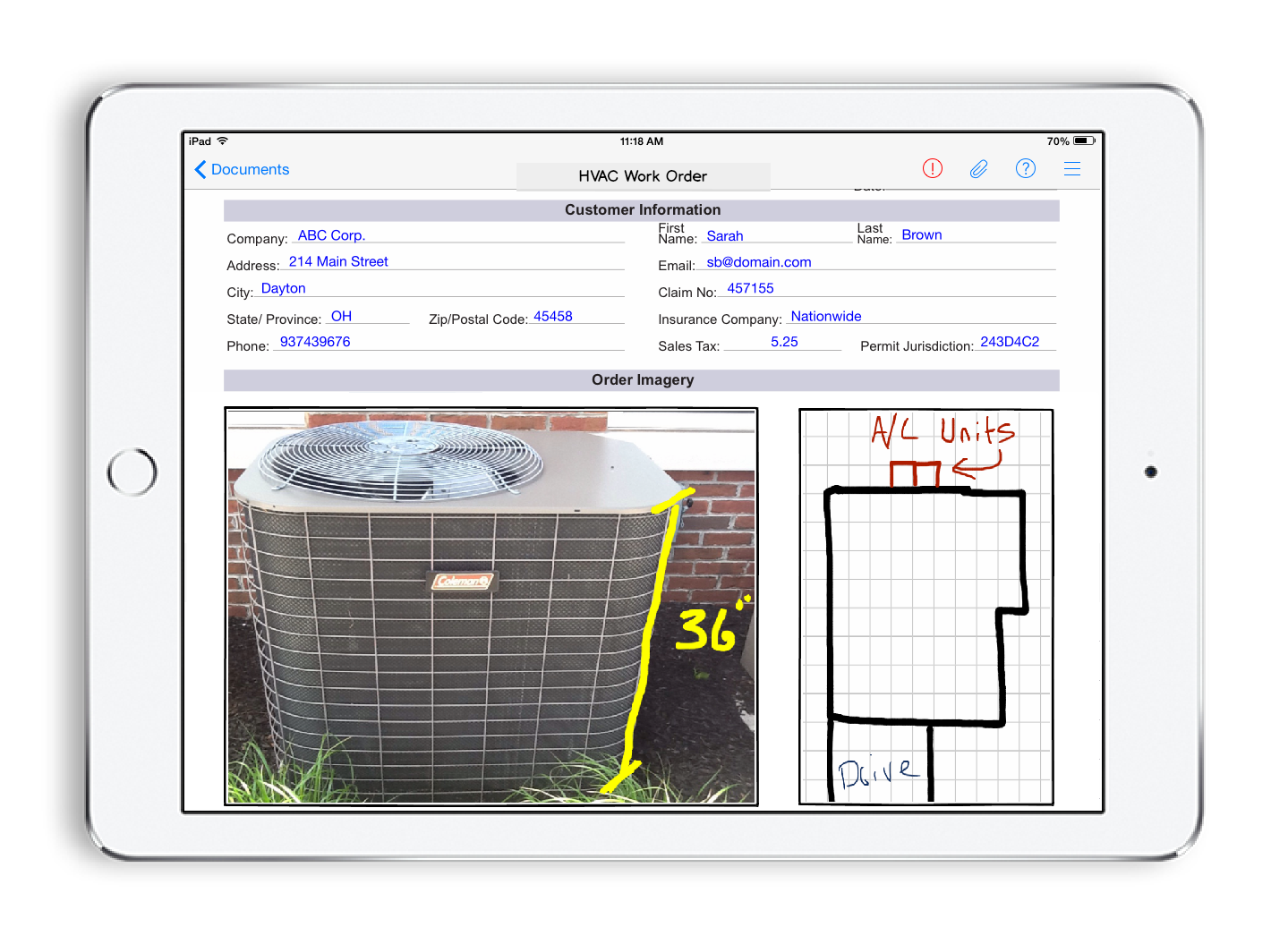 How to Digitalise Your Field Service Business - HVAC work order