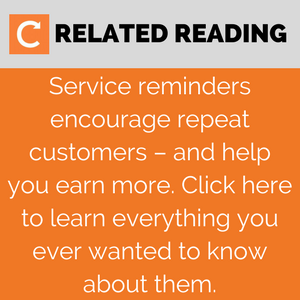 How to digitalise your field service business with service reminders - click to tweet