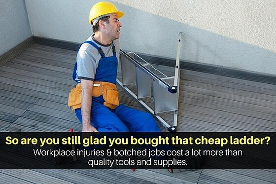 Workplace injuries and botched field service jobs cost a lot more than quality tools & supplies.