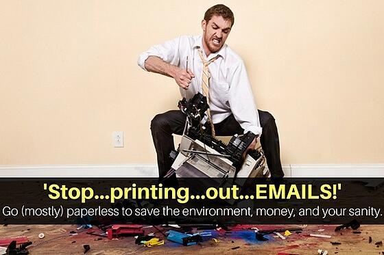 In a paperless office, your field service business won't be printing emails anymore.