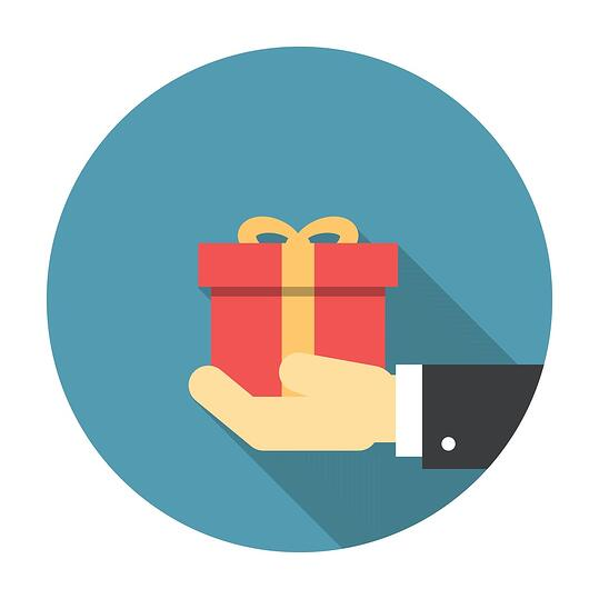 Boost customer loyalty with giveaways and gifts