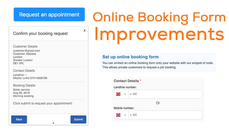 Booking-form-improvements