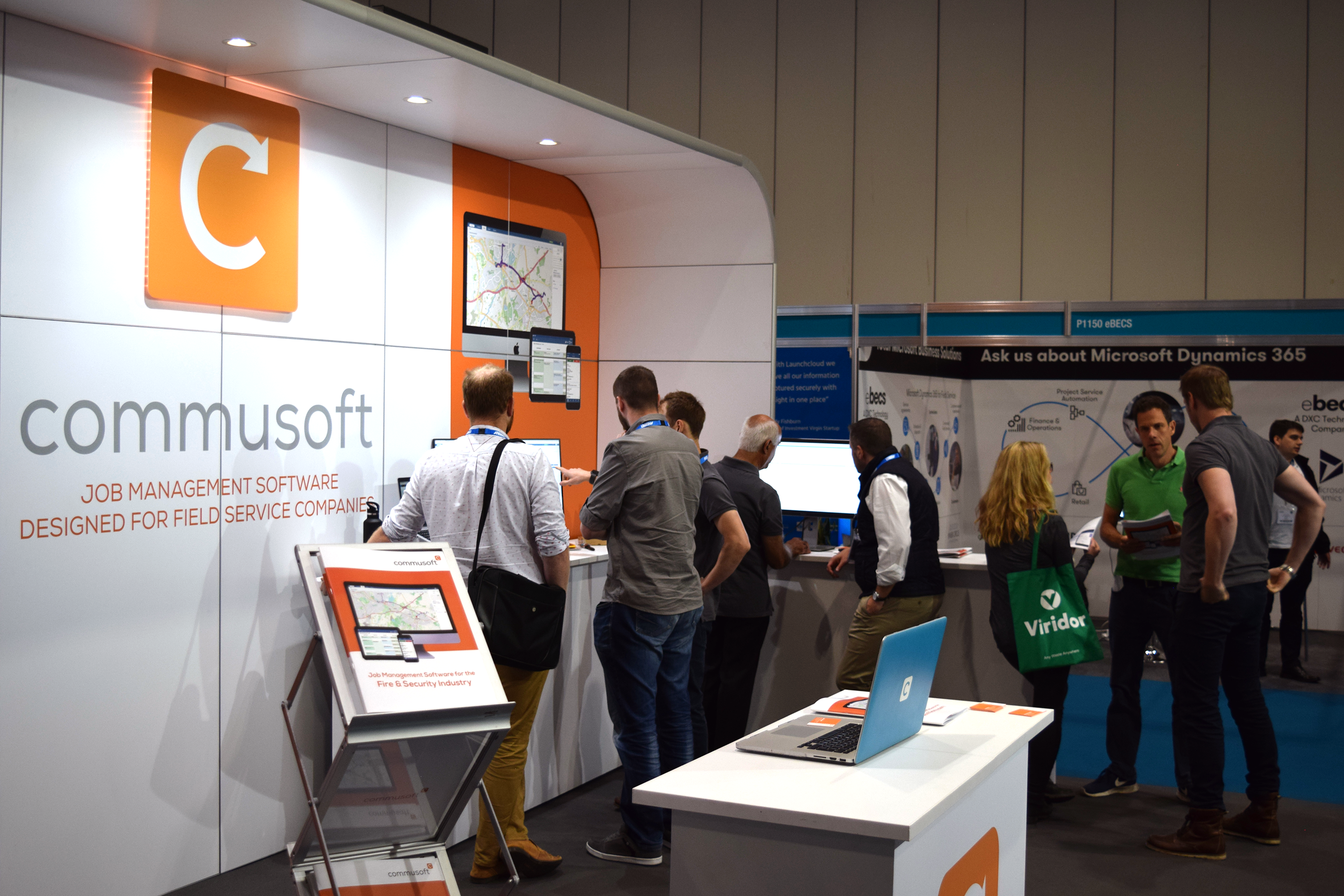 Field Service Management Expo 2018 Commusoft stand