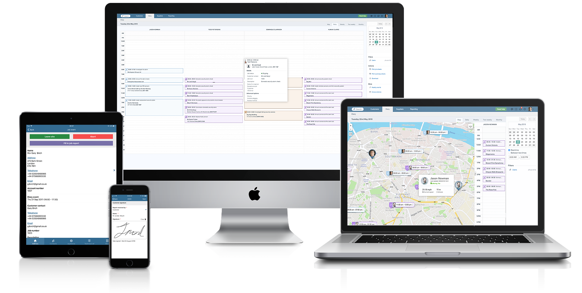 Commusoft's Paperless office plan on devices