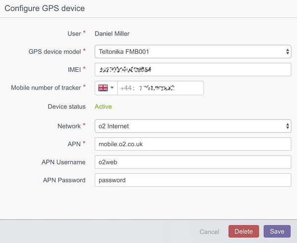 Configure tracker rearrange