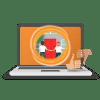 After-sales care Portal graphics-orange