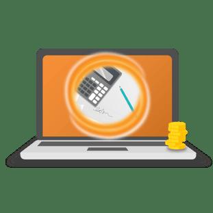 Estimating Portal graphics-orange