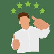 5 star thumbs up loyal customer review