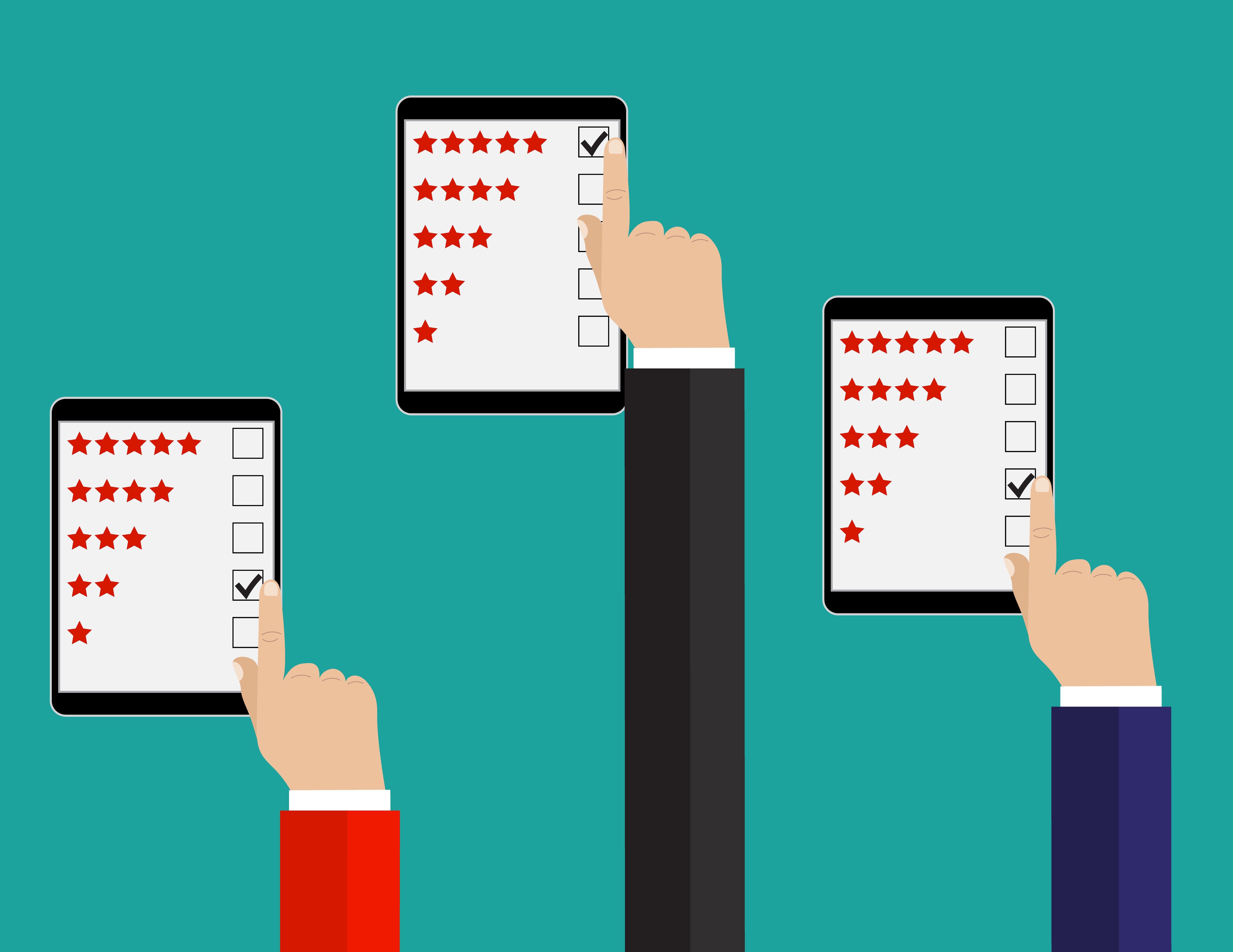 hands on tablets showing asset management