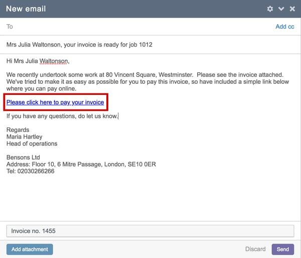 Invoice portal link