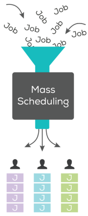 Mass scheduling graphic