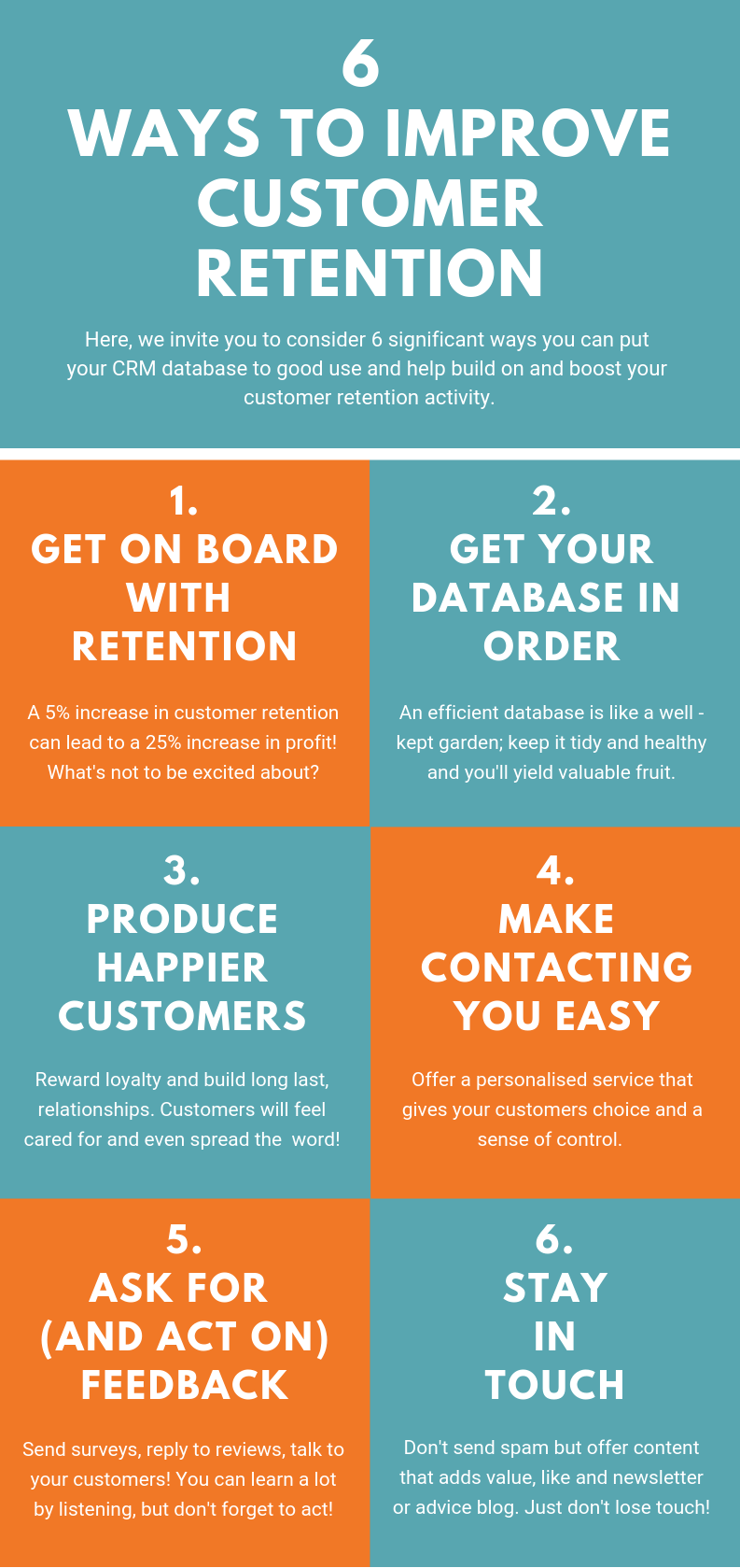 P#2 -reduced text- 6 Ways to Improve Customer Retention