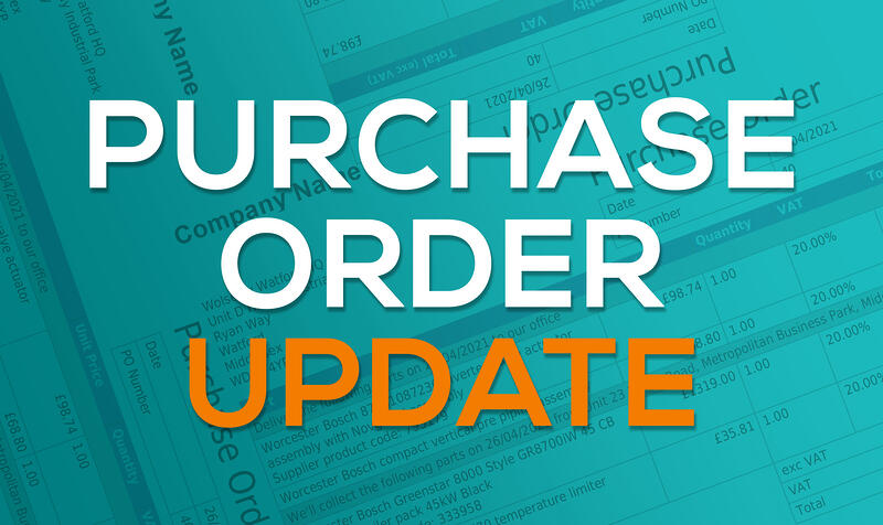 Purchase Order update