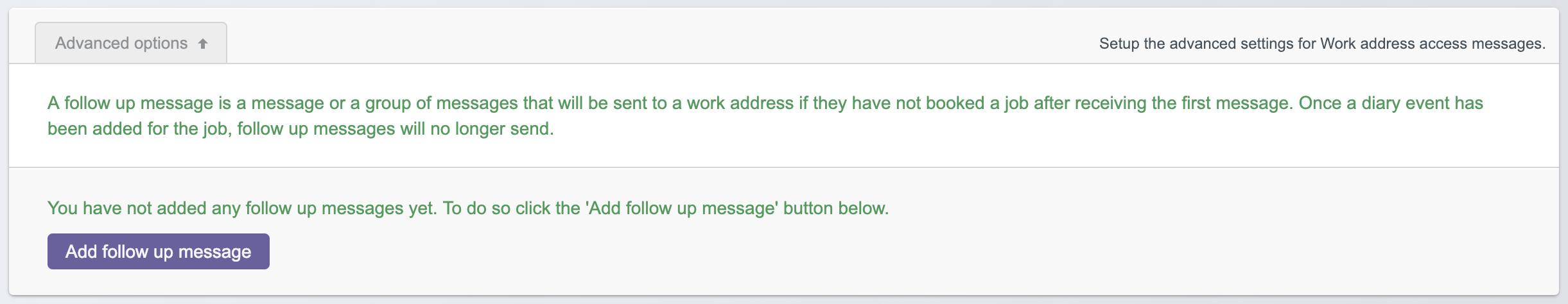 Add a follow up message