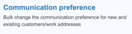 Communication preference system setting