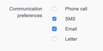 Set default communication preference