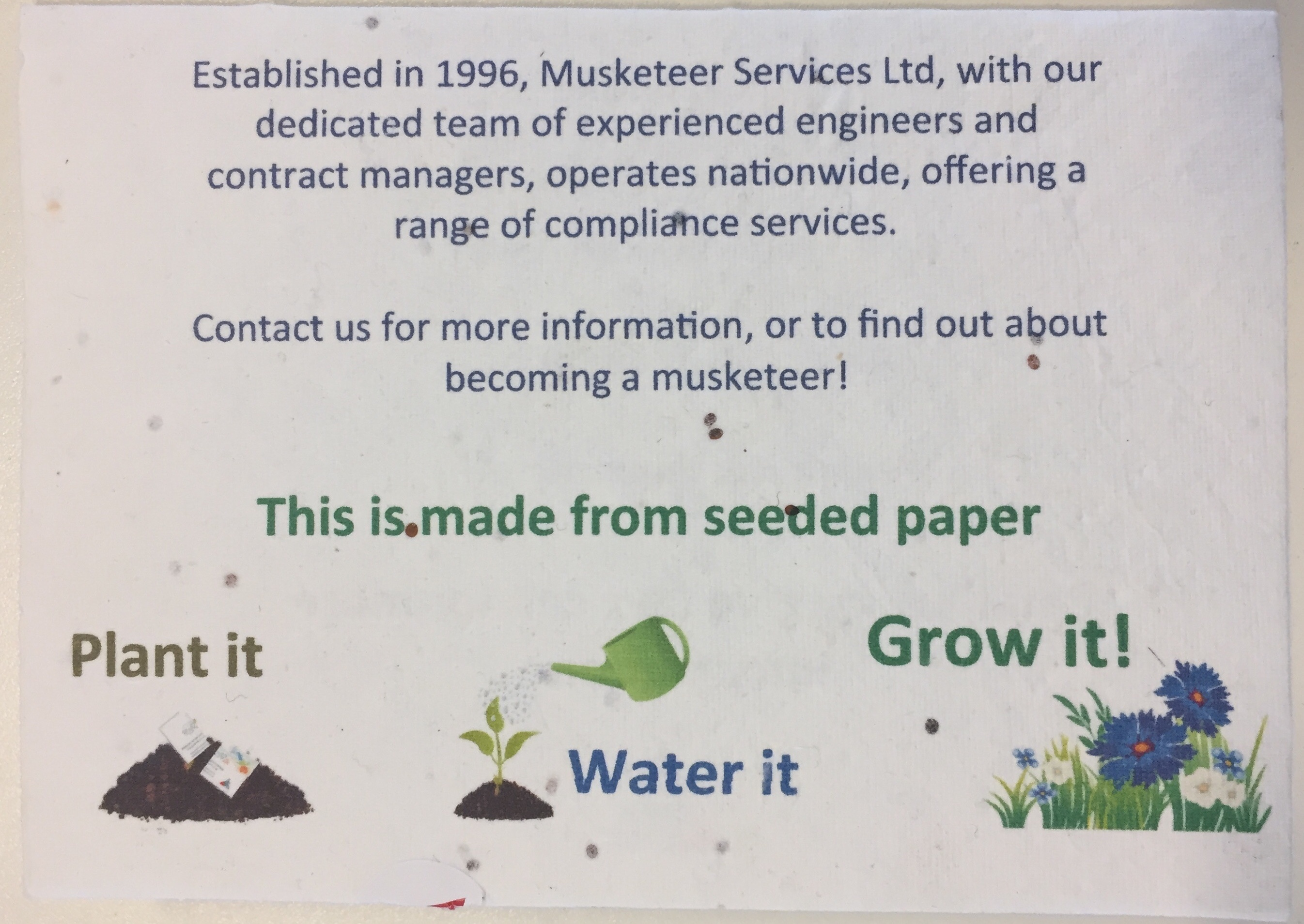 Musketeer Services seed paper FSME 18