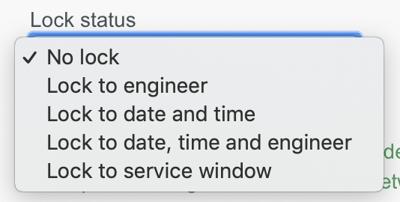 Set lock status