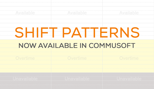 Shifts now available in Commusoft