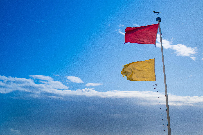 hazard-warning-flags-at-sea-D2EACGT