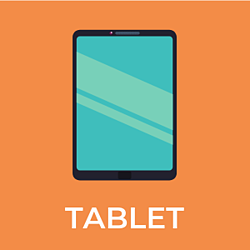 tablet image and phrase, link to recommended tablets