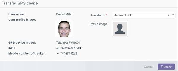 Transfer tracker rearrange