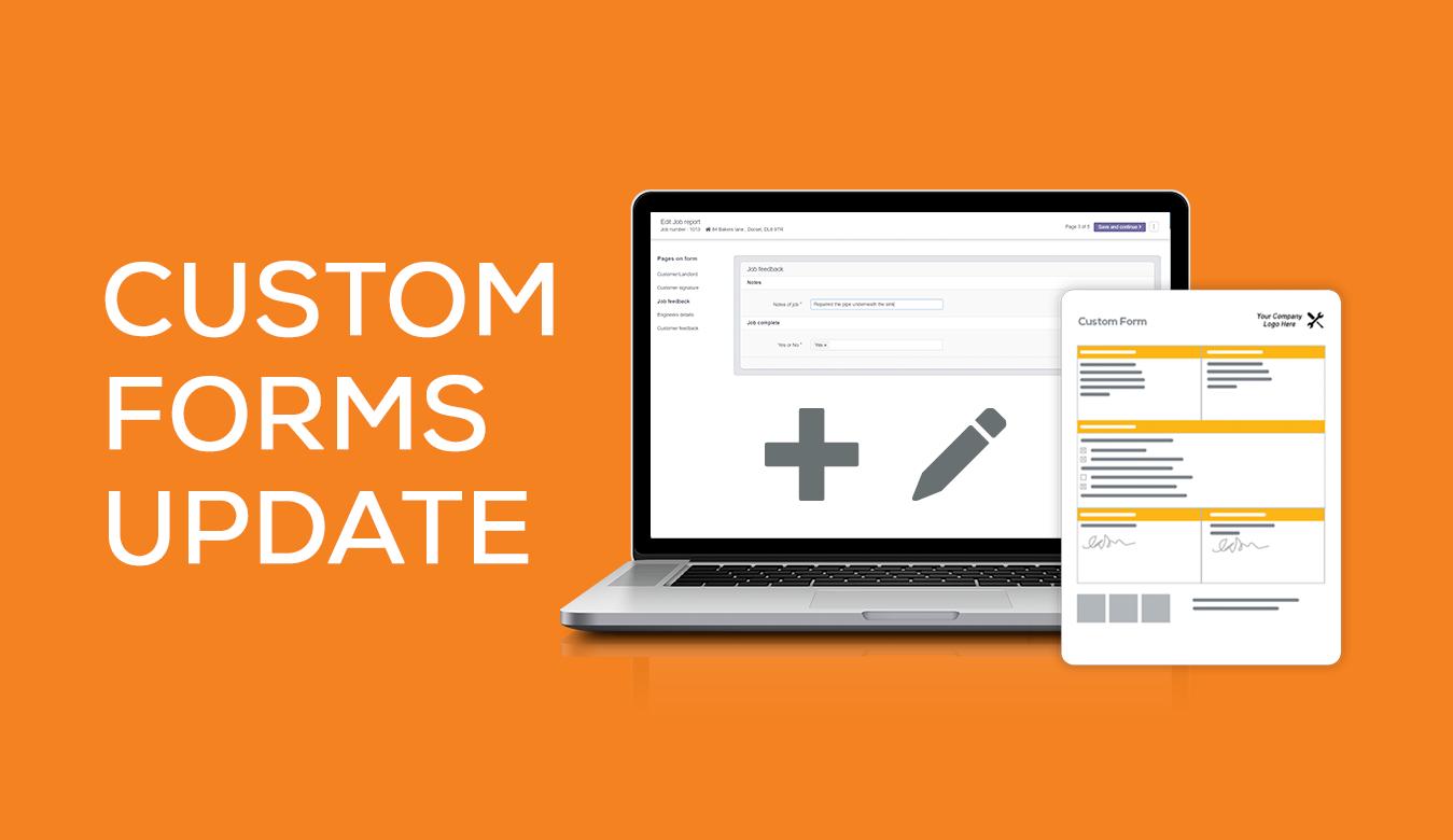 add edit custom forms header