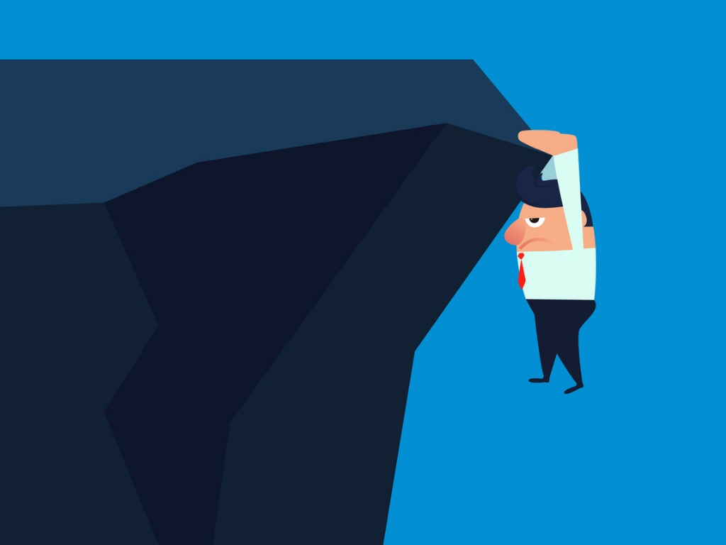 businessman-hanging-on-the-edge-of-a-cliff-vector-id1012548012