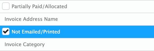 check box filter
