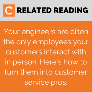 Turn your field service engineers into customer service pros - more reading