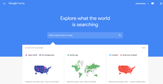 google trends homepage is a free online tool for plumbing and heating business