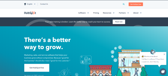 hubspot homepage is a free online tool for plumbing and heating business