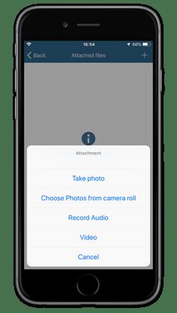 iOS attach video to job
