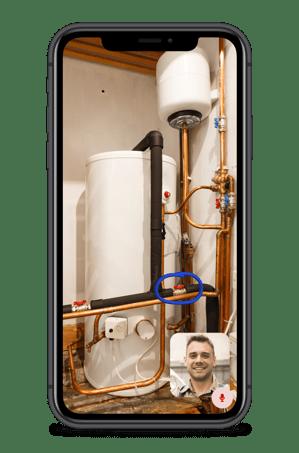 iPhone 11 Diagnose app mockup