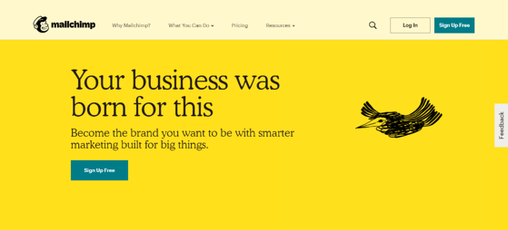 mailchimp homepage is a free online tool for plumbing and heating business