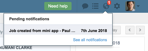 mini app notification