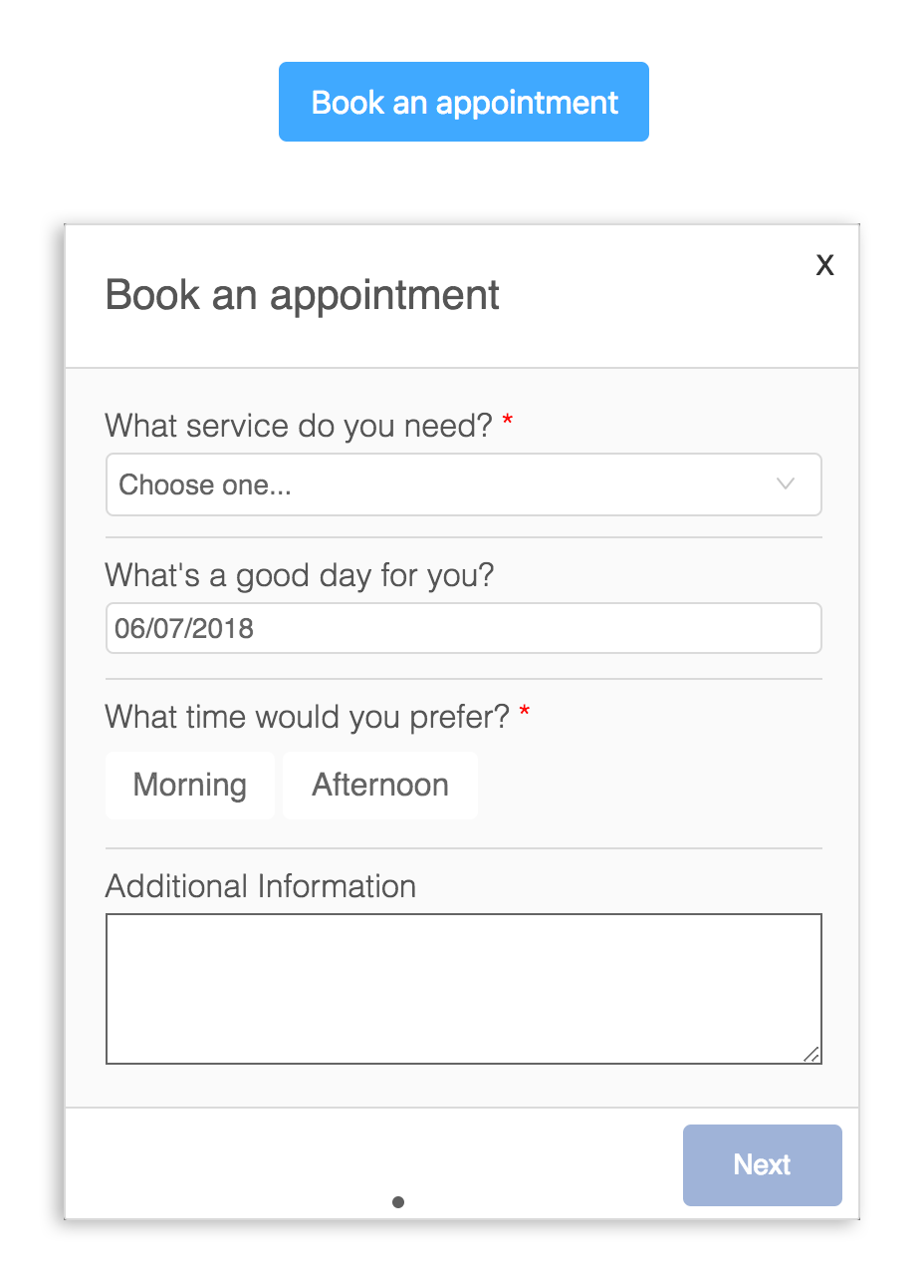 mini app booking portal