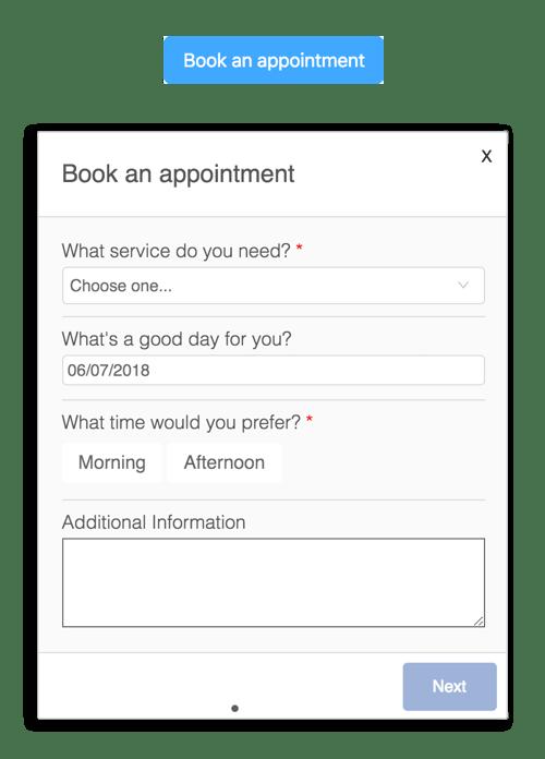 mini app booking portal