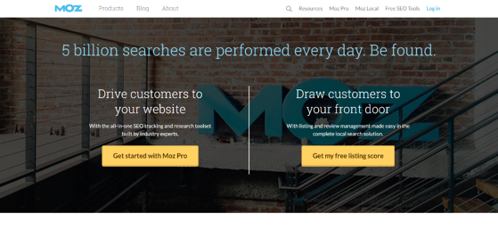 moz homepage is a free online tool for plumbing and heating business