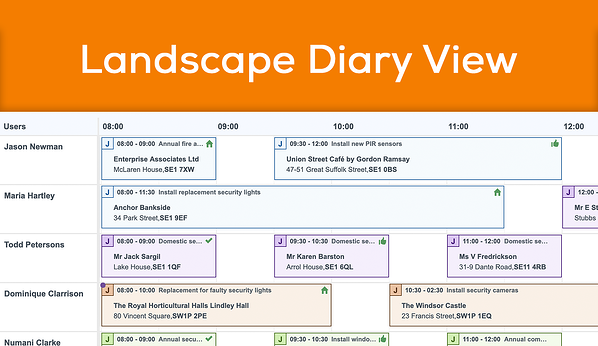New landscape diary view available