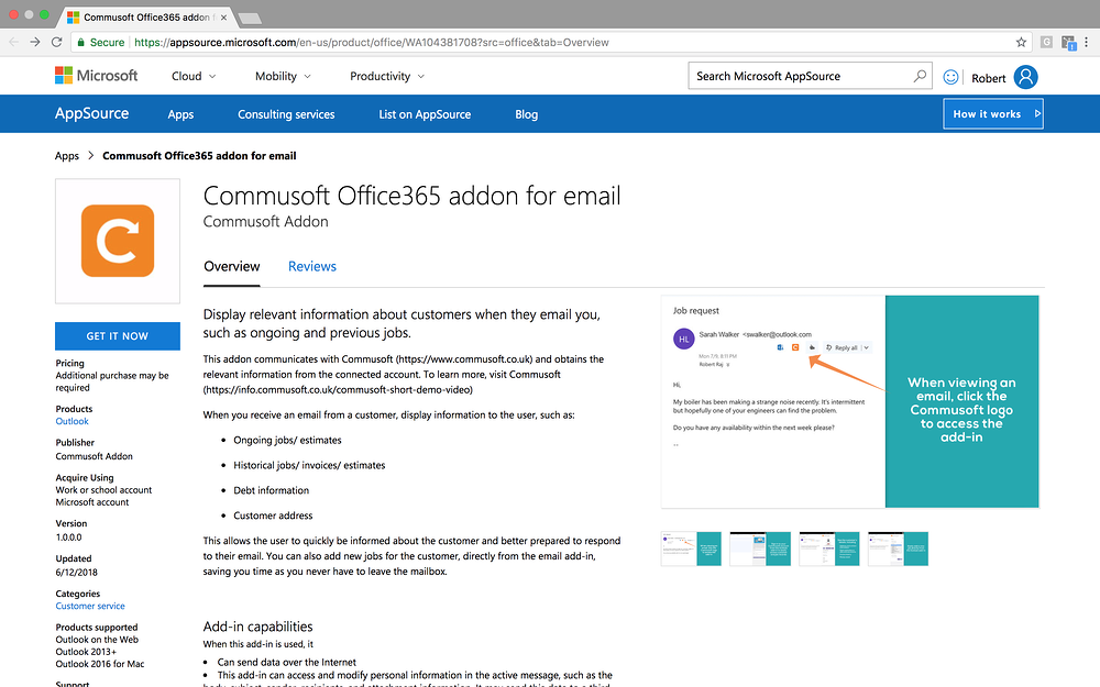 outlook add on