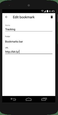 rtvt android bookmark edit